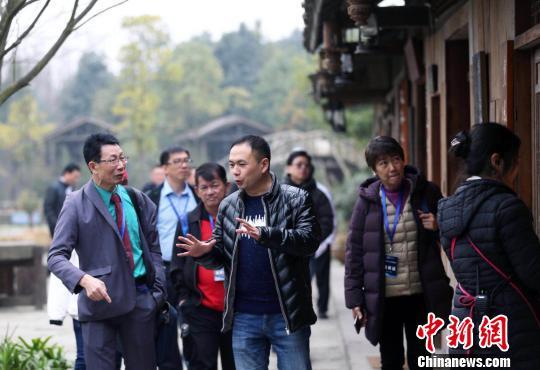 """海外华文媒体代表都江堰""""邂逅""""大熊猫"""