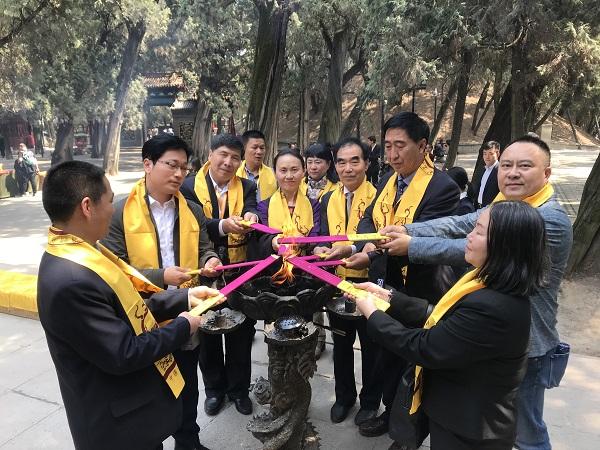 海内外媒体走进中华始祖堂了解黄帝文化