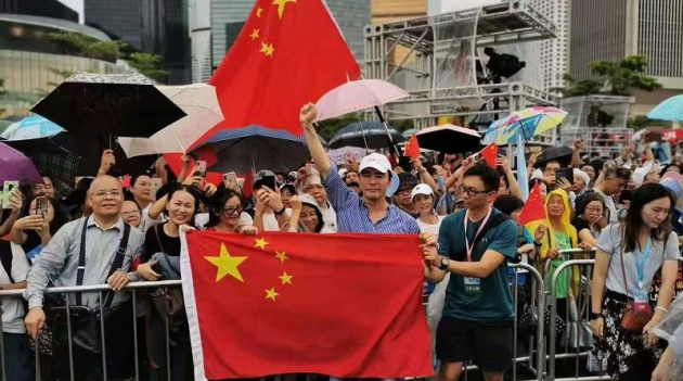 """香港逾47万市民集会呼吁""""反暴力、救香港"""""""